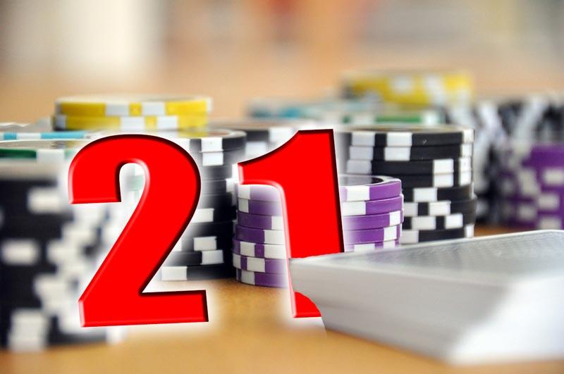 Das Kartenspiel Blackjack wird auch 21 genannt